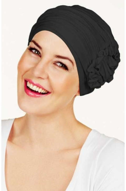 Lotus Bamboo Turban (Black)