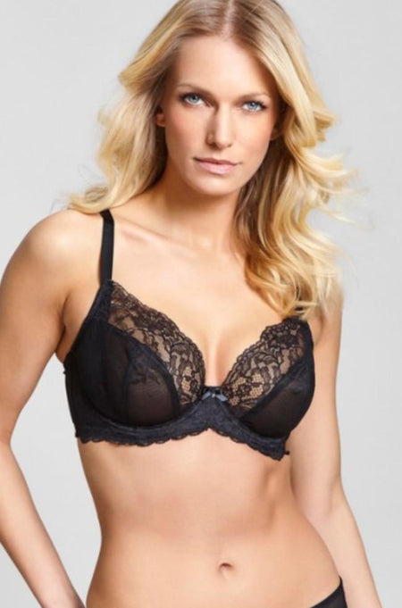 Bronte UW Side Support Longline Bra (Black)