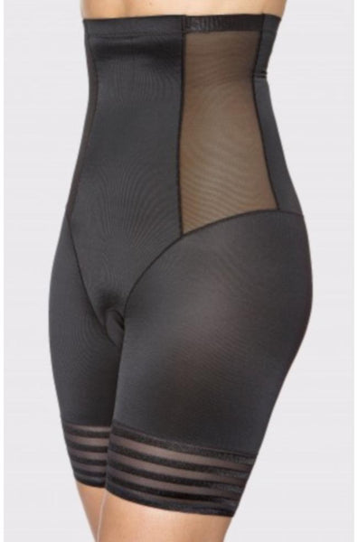 Shaping High Waist Mesh Short (Black or Nude)