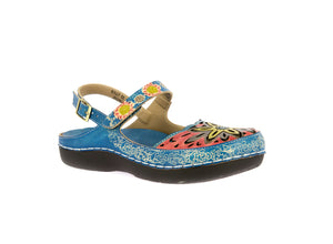 Laura Vita Billy 02 Turquoise Womens Stylish Comfort Sandals