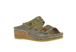 Laura Vita Facscineo 01 Gris Grey Stylish Comfort Sandals
