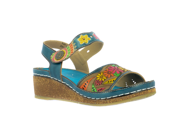 Laura Vita Fascine 02 Jeans Denim Stylish Comfort Sandals