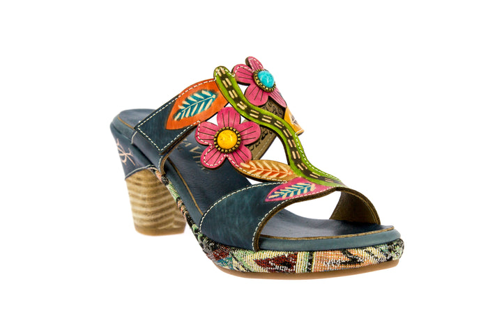 Laura Vita Belfort 09 Jeans Denim Womens Stylish Comfort Sandals