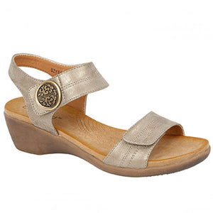 Boulevard L9525FS Womens Twin Touch Fastening Casual Summer Sandals Pewter