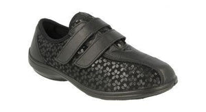 EasyB 10016A Megan Black Womens Casual Comfort Stretch Shoes