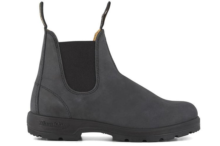 Blundstone 587 Rustic Black Unisex Premium Leather Stylish Chelsea Boots