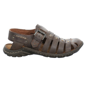 Josef Seibel Logan 04 Espresso Mens Casual Comfort Leather Sandals