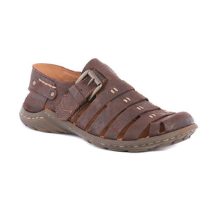 Josef Seibel Logan 04 Espresso Men's Leather Fisherman Sandals