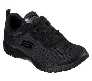 Skechers 13070 BBK Black Women's Mesh Fabric Upper Comfort Sporty Trainers