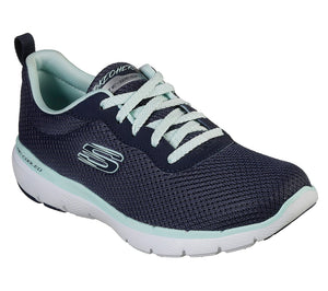 Skechers 13070 NVAQ Navy Aqua Women's Mesh Fabric Upper Comfort Sporty Trainers