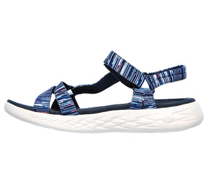 Skechers 140013/NVMT Navy Multi Womens Casual Comfort Slingback Sandals