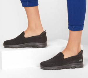 Skechers 15900/BBK Black GOWALK 5™ Womens Casual Comfort Slip On Shoes