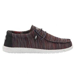 Dude Wally Sox Garcoyle Red Mens Slip On Elastic Lace Knit Fabric Canvas Shoes