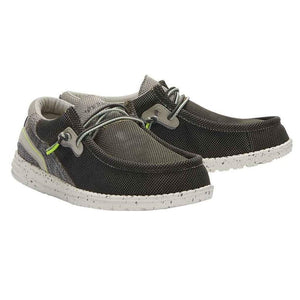 Hey Dude Wally Hawk Sage Casual Comfort Canvas Deck Shoes