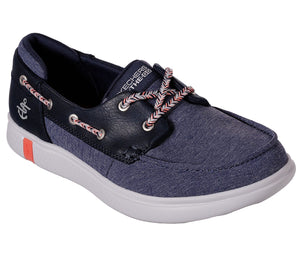 Skechers 16110 NVY Navy Women's Casual Canvas Casual Comfort Boat Shoes