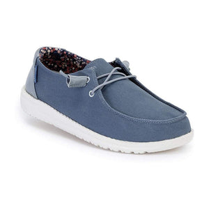 Hey Dude Wendy Citadel Blue Women's Slip On Canvas Relaxed Fit Shoes