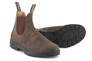 Blundstone 585 Rustic Brown Unisex Premium Leather Stylish Chelsea Boots
