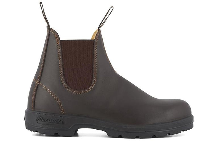 Blundstone 550 Walnut Brown Unisex Premium Leather Stylish Chelsea Boots