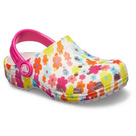Crocs Classic Barely Pink Graphic Clog Kids Casual Comfort Clogs