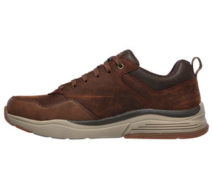 Skechers 210021/CDB Brown Mens Casual Comfort Leather Lace Up Shoes