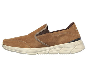 Skechers 232019/BRN Brown Mens Casual Comfort Slip On Shoes