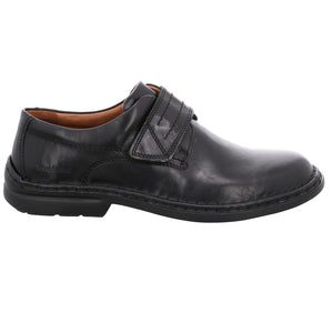Josef Seibel Vigo 09 Schwarz Mens Adjustable Strap Smart Leather Shoes