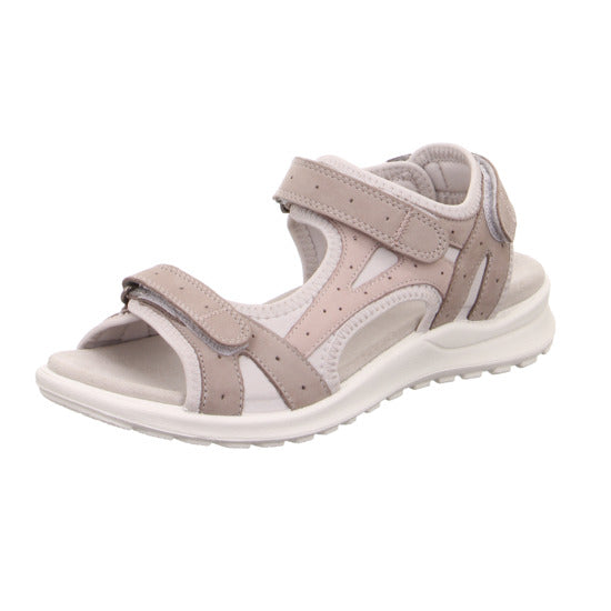 Legero 4-00732-29 Grey Griffin Open Toe Sandals Touch Fastening Straps