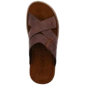 Josef Seibel Paul 29 Brasil Kombi Mens Leather Crisscross Upper Slip On Sandals