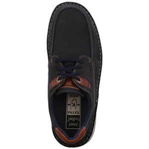 Josef Seibel Anvers 75 Ocean Mens Nubuck Leather Extra Wide Fit Lace Up Shoes