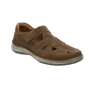 Josef Seibel Anvers 81 Braun Mens Wide Fit Casual Comfort Nubuck Sandals Shoes