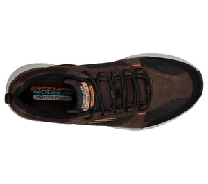 Skechers 51893/CHBK Brown Mens Lace Up Relaxed Fit Casual Walking Trainers