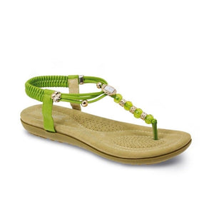Lunar Womens Murano JLH879 Ladies Lime Summer Beaded Beach Holiday Sandals