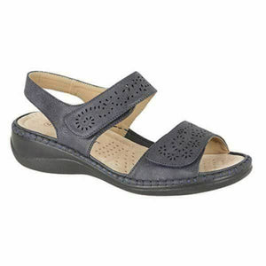 Boulevard L589C Navy Women's Touch Fastening Lightweight Sandals