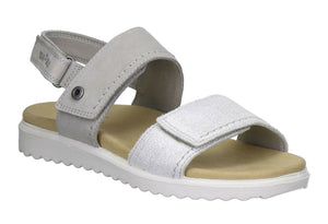 Legero 2-00708-08 Womens Sandals Soft Nubuck Leather Lightweight Comfy Off White