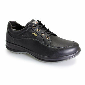 Grisport Livingston Black Mens Lace Up Walking Real Leather Lightweight Shoes