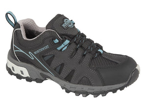 Northwest Territory Hope Grey/Aqua Womens Comfort Hiking Walking Shoes