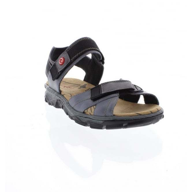 new styles a1a7d 76a2a Rieker 68851-12 Ladies Casual Comfortable Walking Leather Shoes Sandals Sky  Blue
