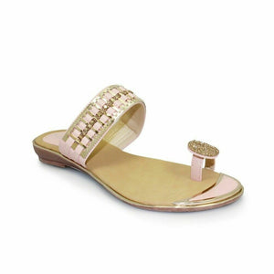 Lunar Elba JLH914 Pink Women's Summer Sandals Gemstone Top Loop Slip On Comfy