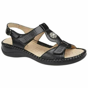 Boulevard L594A Black Women's Buckle Touch Fastening Lightweight Sandals Shoe Centre Dawlish