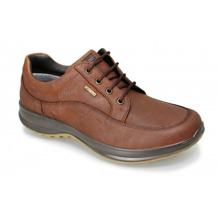 Grisport Livingston Mens Lace Up Walking Real Leather Lightweight Shoes Brown