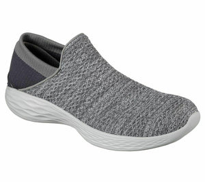 Skechers 14951 Charcoal Womens YOU Walking Shoes Yoga Gym Slip On Lightweight