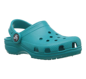 Crocs Kids Classic Clog Turquoise Slip On Easy to Clean Durable Croslite™ Materi