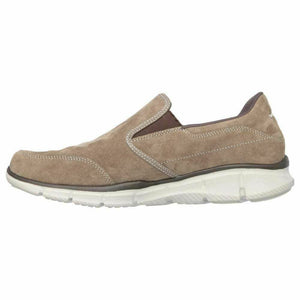 Skechers 51502/BRN Brown Mens Casual Comfort Slip On Suede Memory Foam Shoes