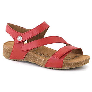 Josef Seibel Tonga 25 Womens Real Leather Triple Touch Fastening Sandals Rot Red