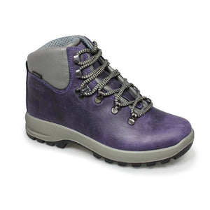 Grisport Hurricane Womens Waterproof Walking Hiking Boots Lace Up Leather Purple