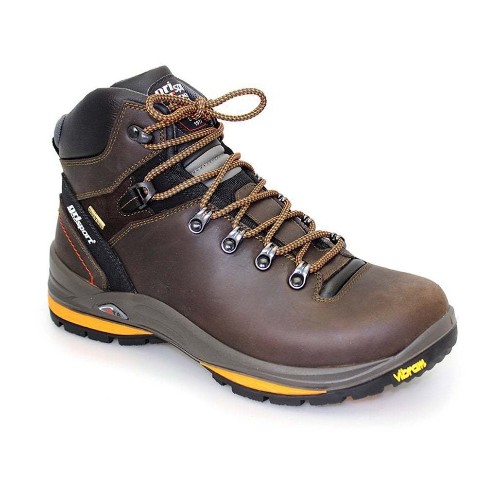 da46cc14a45 Grisport Saracen Brown Mens Walking Hiking Boots Lace Up Leather Waterproof