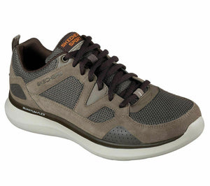 Skechers 52905/BRN Brown Mens Lace Up Casual Relaxed Fit Walking Trainers