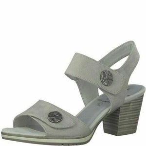Jana 8-28308-20 204 Light Grey Women's Touch Fastening Shoes Sandals Heels (UK7.5)