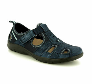 Earth Spirit Cleveland Navy Womens Casual Suede Shoes Sandals