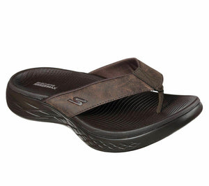 Skechers 55352/CHOC Chocolate Mens Casual Sporty Flip Flops Sandals